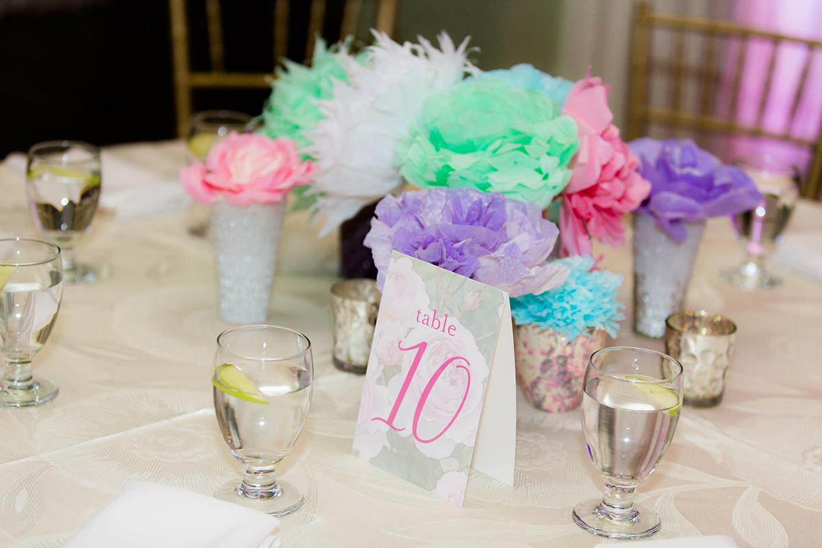 Green And Pink Flowers Bat Mitzvah Lets Celebrate Events